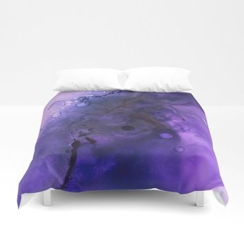 Sahasrara (crown chakra) Duvet Cover by duckyb