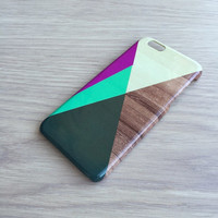 Geometric wood iphone 6 case / iphone 6 plus case / Samsung galaxy S6 case / Samsung galaxy S5 case / iphone 4 5 5S 5C, S4 note 3 note 4