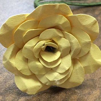 Yellow Paper Flower Rose
