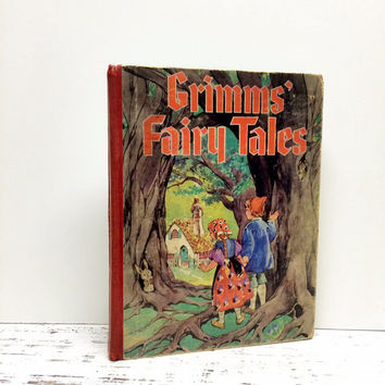 Old Grimms Fairy Tales, 1930, Fairy Tale Book, Fairytale Book, Home Decor, Princess, Antique Fairy Tale Book ,Old Book, Photo Prop, Ephemera