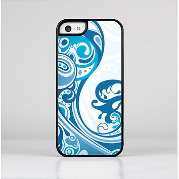 The Abstract Vibrant Blue Swirled Skin-Sert Case for the Apple iPhone 5c