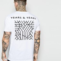 ASOS T-Shirt With Years And Years Chest And Back Print In Relaxed Skater Fit