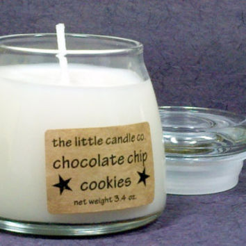 Chocolate Chip Cookies Soy Candle Jar - Hand Poured and Highly Scented Container Candles