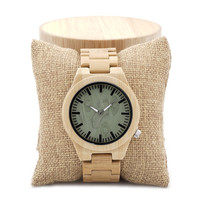 Wood Dial Bamboo Watch with round box