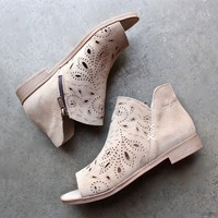 coolway - nelia laser cut open toe bootie (women) - more colors