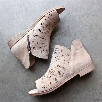 final sale - coolway - nelia laser cut open toe bootie (women) - more colors