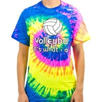 Volleyball It's What I Do Tye Dye T-shirt (Size=Adult-Large)