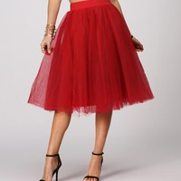 Promo-red Fantasy Tulle Skirt