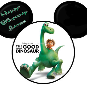 The Good Dinosaur Mickey Mouse Head Disney World Personalized with Name/Date Printable Iron On Transfer DIY Tshirts Instant Download