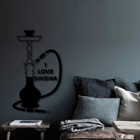 Wall Decal Sticker Hookah Hooka Shisha Lounge Relax Inscription Bar Hause M1578