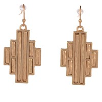 Designs by Stephene Aztec Drop Earrings