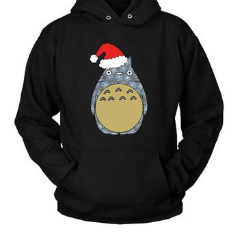 DCCK7H3 Totoro Christmas Hoodie Two Sided