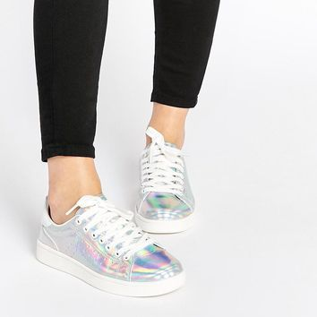 New Look | New Look Holographic Trainers at ASOS