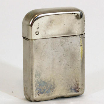 Vintage Cigarette Lighter | Bowers #10 | Vintage 40's Lighter Flip Top Silver Tone | Sparks Needs Lighter Fluid