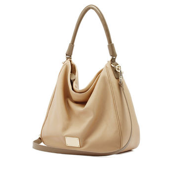 Leather Tote Messenger Bags Ladies Soft Shoulder Bags [6583087879]
