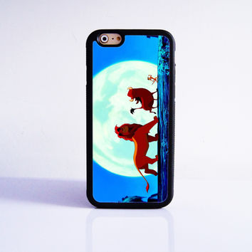 Hakuna Matata King of Lion   Rubber Case Cover for Apple iPhone 4 4s 5 SE 5s 5c 6 6s Plus