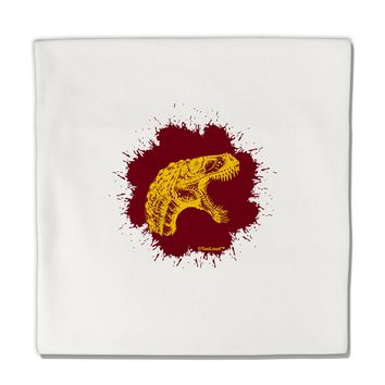 "Jurassic Dinosaur Face Blood Splatter Micro Fleece 14""x14"" Pillow Sham by TooLoud"