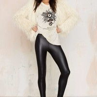 Real Slick Vegan Leather Leggings