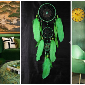 Dreamcatcher New green Dream сatcher gift idea green dreamcatchers boho dreamcatcher wall handmade gift green decor Christmas New Year gift