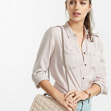 silky soft twill boyfriend shirt