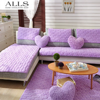 Hot Winter sofa cover for sectional sofa couch purple red slip-resistant sofa towel Two Three Four-seater 1pc pricess palace