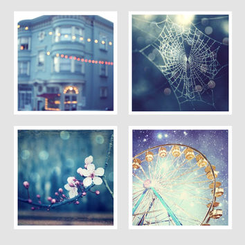 Blue Photography Set  - Four prints - Save 35%