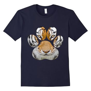 Tiger Eyes Paw Animal Cat Cheetah Leopard Lion Print T-Shirt