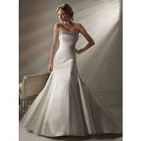Gorgeous Strapless Trumpet / Mermaid Chapel Train bridal gowns