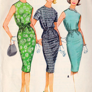 1960s Misses Dress Vintage Sewing Pattern, Spring Fashion, Summer Fashion, McCall's 5699 bust 31""