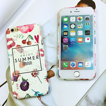 Non-slip Cherry Mobile Phone Case For Iphone  6 6s 6plus 6s plus + Nice gift box!