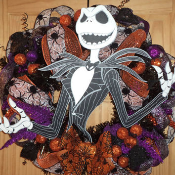Brand New Tim Burton's The Nightmare Before Christmas / Jack Skellington Wreath