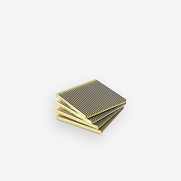 Fin Coasters Gold