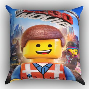 The Lego Movie  X0900 Zippered Pillows  Covers 16x16, 18x18, 20x20 Inches