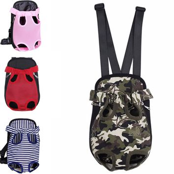 Mesh Camouflage Dog Carrier Backpack