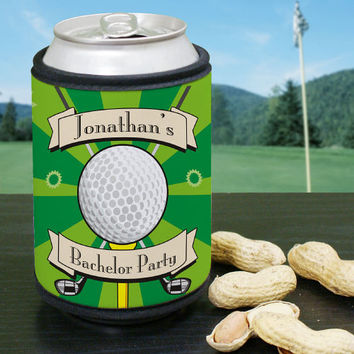 Personalized Golf Can Wrap Foam Koozie