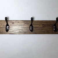 Wall mount  coat hook rack, rustic wood coat rack, entryway coat hook, entryway storage, 5 hooks, coat hooks, towel rack, coat hanger