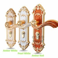 Minimalist Style European Fashionable Solid Lockset Handles Interior Door Mechanical Handle Lock