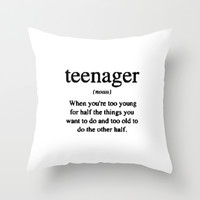 Teenager. Throw Pillow by Sjae