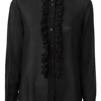Saint Laurent ruffle placket blouse