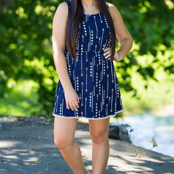 Everly-Follow The Arrows Dress-Navy – Simply Dixie Boutique