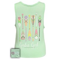 Girlie Girl Originals Preppy Oars Canoe River Comfort Colors Tank Top
