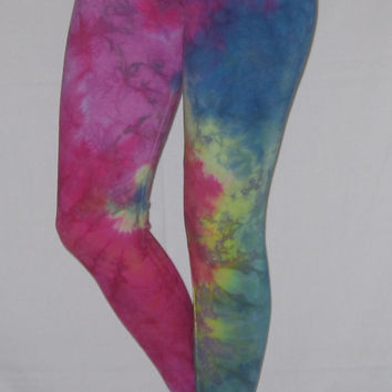 Tie Dye Leggings S American Apparel