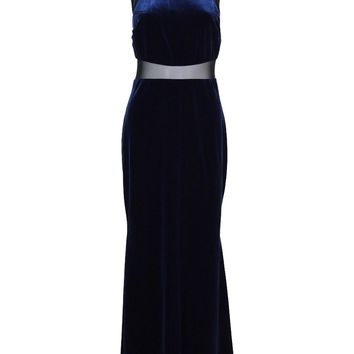 Betsy & Adam Women's Velvet Illusion Gown
