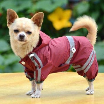 Fashion Pet Dog Clothes Rain Coat Jacket Clothes Dogs Waterproof