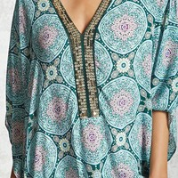 Tasseled Ornate Cover-Up Kaftan