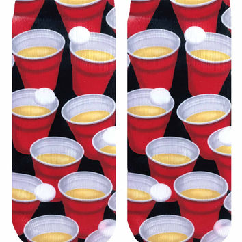 Beer Pong Ankle Socks