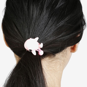 Baby Pink Whale Hair Tie