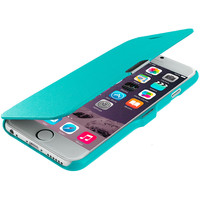 Baby Blue Slim Wallet Magnetic Flip Case Cover for Apple iPhone 6 Plus (5.5)