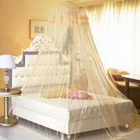 260cm Elegant Lace Hanging Bedding Mosquito Net Dome Princess Bed Canopy Netting