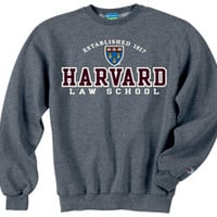 TheCoop - The Harvard / MIT Cooperative Society Store Harvard Law School Versa Twill Crew Granite Sweatshirt With Versa Twill lettering your Garment has a clean look both inside and out. Say goodbye to the pellon inside for good. State of the art heat tran